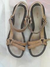TEVA VENTURA Cork Ysidro Leather Wedge Sandals Women's Sz 10