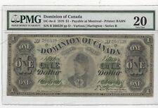 **1878**DOC, DC-8e-ii :$1 Note, SN# B 260539 Harington PMG VF-20