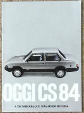 FIAT OGGI CS84 Car Sales Brochure 1984 #0130290 ITALIAN TEXT