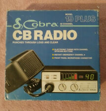 Cobra Cb Radio Model 19 Plus 40 Channel Not Tested With Box And Paper Work