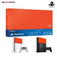 Sony PS4 Custom Faceplate Genuine Sony PlayStation 4 Faceplate Orange faceplate