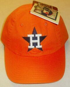 Houston Astros 1971 back logo Adjustable Strapback Dad hat style Orange New Mlb