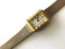 Vintage Vulcain 17j Canada Yellow Tone Mechanical Ladies Wrist Watch Runs