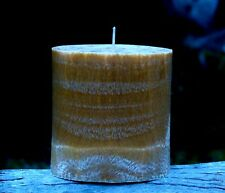 90hr COCONUT BUTTERSCOTCH Triple Scented OVAL PILLAR CANDLE Christmas Gifts