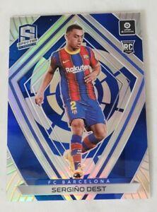 Sergino Dest 2020-21 Panini Chronicles Spectra Blue Prizm RC #38/49 FC Barcelona