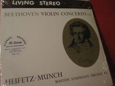 "MUNCH "" BEETHOVEN-VIOLIN CONCERTO "" (180GRAM-CLASSIC-RECORD/45RPM-LP-SET/SEALED)"