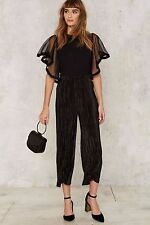 Nasty Gal English Factory Sheer as Hell Ruffle Sleeve Top Size L $68 Ng1