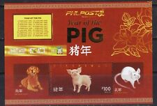2019 Philippine Zodiac Year of PIG with GOLD Stamping Souvenir sheet mint NH