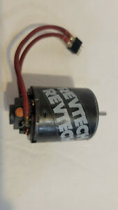 Vintage Revtech Brushed RC Motor. Black. Runs.