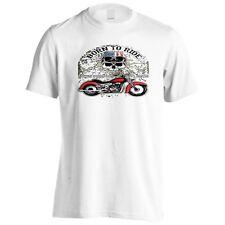 Born to Ride Teschio New York Da Motociclista Uomo T-Shirt/tank top aa106m