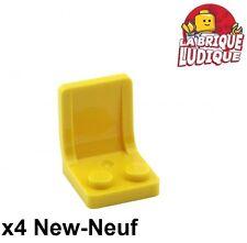 Lego - 4x Minifig utensil siège chaise seat 2x2 jaune/yellow 4079b NEUF