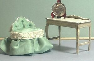 Vintage Artisan Childs Vanity Chair Tootsie Toy Table 1:12 Dollhouse 1920's