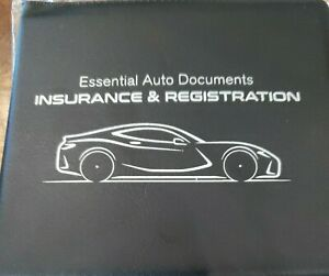 Essential Auto Documents Insurance And Registration Holder