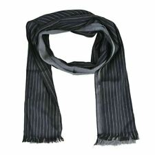 Multi Color Fringes Decorated Striped Men's Scarf