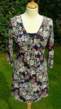 Fat Face floral print 3/4 sleeved dress size 10