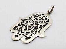 Handmade African Tuareg Hamsa Silver Pendant Ethnic Jewelry Bohemian Necklace