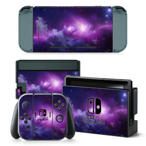 Nebular Galaxy Vinyl Skin Stickers for Nintendo Switch Console Joy-Con Dock Wrap