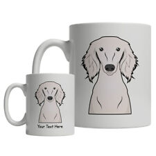 Saluki Dog Cartoon Mug - Personalized Text Coffee Tea Cup