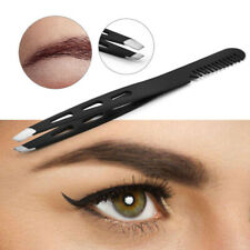 1PC Eyebrow Tweezers Clip Eyelash Comb  Slant Tip Hair Removal Eyebrow Tools