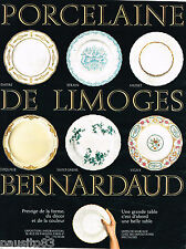 PUBLICITE ADVERTISING 065  1969  PORCELAINE DE LIMOGES BERNARDEAU