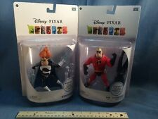 """Lot Of 2 Thinkway Disney Pixar 6"""" Deluxe Mr. Incredible Syndrome Action Figures"""
