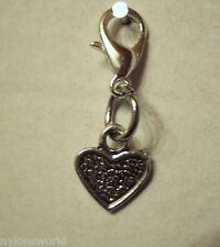 Herz Herzchen Heart Charm Anhänger Kettenanhänger Karabinerverschluß NEU   (11C)
