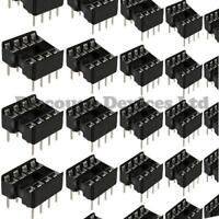 10x 8 Pin RoHS PCB IC Socket DIL/DIP 8 0.3""
