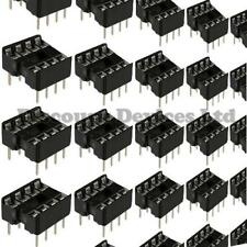 10x 8 broches rohs PCB ic socket dil / DIP 8 0,3 ""