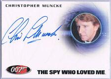 James Bond 007; Christopher Muncke as U.S.S. Wayne Crewman Autograph A201