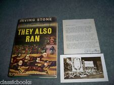They Also Ran  Irving Stone  True 1st Print 1st Issue