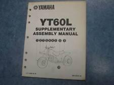YAMAHA 1984 YT60L SUPPLEMENTARY ASSEMBLY MANUAL YT60 L YT 60 L 84