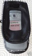 Samsung SGH-E770 Black Leather Phone case New