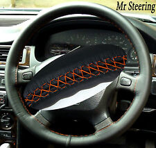 FITS LAND ROVER FREELANDER MK1 STEERING WHEEL COVER ORANGE STITCH