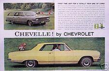 1964 64 Chevy Chevelle Malibu Super Sport ORIGINAL Ad CMY STORE   5+= FREE SHIP