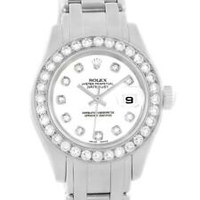 Rolex Pearlmaster Masterpiece White Gold Diamond Ladies Watch 80299