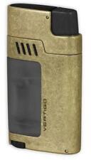 """Vertigo """"Gauntlet"""" Antique Brass Triple Torch Butane Lighter, Cigar Punch"""