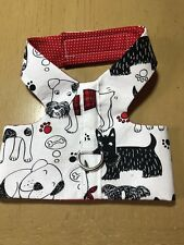 Hand Made Dog Harness Black Red  L (1426)
