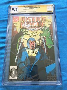 Justice League (1987) #25 -DC - CGC SS 9.2 -Signed by Maguire, Giffen, DeMatteis
