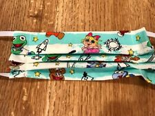 Fun Fabric Face Mask with Filter pocket 100% Cotton Washable- USA- Muppet Babies