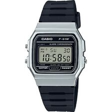 Casio F91WM-7A, Digital Chronograph Watch, Black Resin Band, Alarm, Date