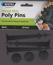 Whites WEED MAT POLY PINS secure fixing - 20 pack - FREE SHIP in Australia