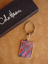 Cole Haan Optical WEAVE Key Chain Fob Poppy Multi color NEW keychain with box