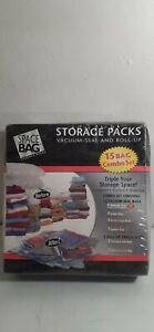 Space Bag Storage Packs 15 Bag Combo Set