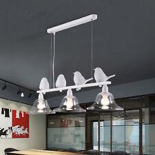 Resin Chandelier Lighting Pendant Lamp Ceiling Fixtures LED 4 White Birds Light