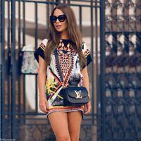 Vestido vintage etnico Sexy Ethnic Prints Summer Short Mini Dress