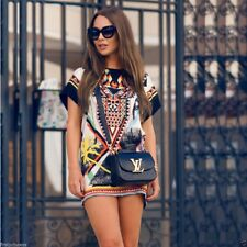 Vestido vintage etnico Sexy Ethnic Prints Summer Short Mini Dress