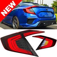 2016+ Honda Civic 4DR Sedan Full LED Conversion Taillight Set Red/Smoke Lens