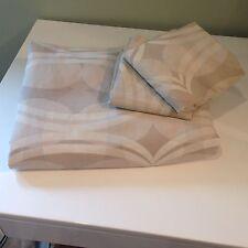 Jcpenny Queen duvet cover + 2 Pillow Covers set Tan Cream