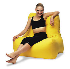 Bean Chair, cotton velvet- YELLOW colour