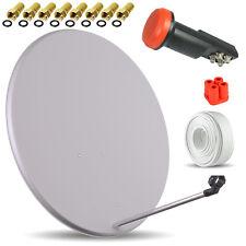 Digitale HDTV SAT Anlage + OPTICUM Quad LNB + 80 cm Spiegel Schüssel + 50m Kabel